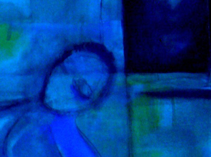 Blue Dubbel Blue - Oil Painting